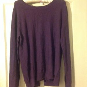 Purple sweater with lace detail